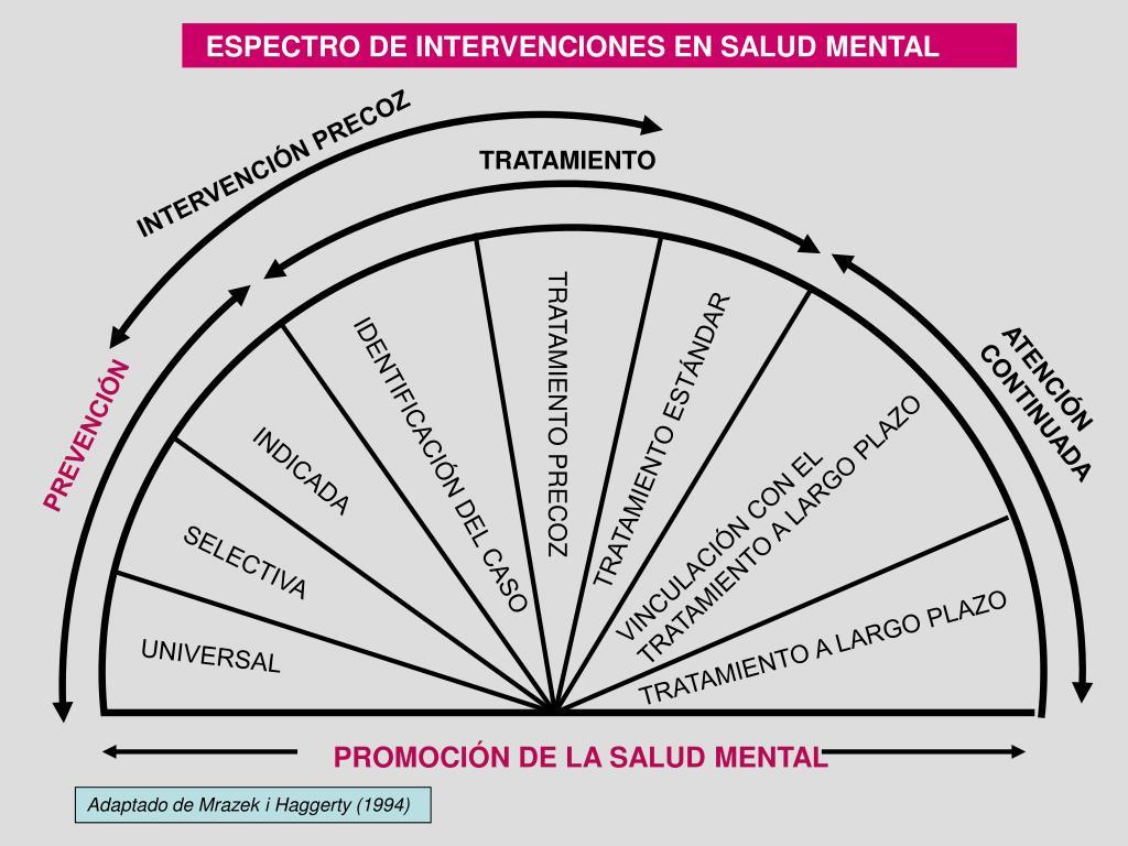 ESPECTRO DE INTERVENCIONES EN SALUD MENTAL