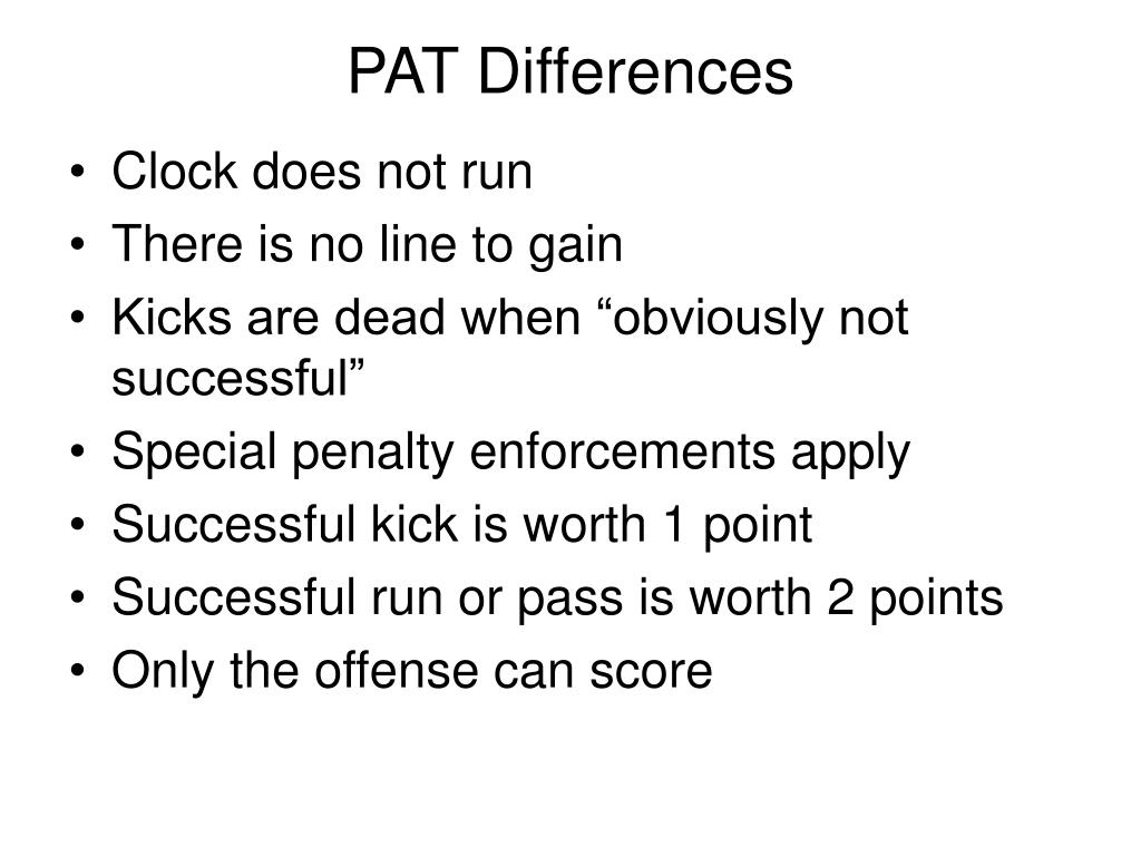 PAT Differences