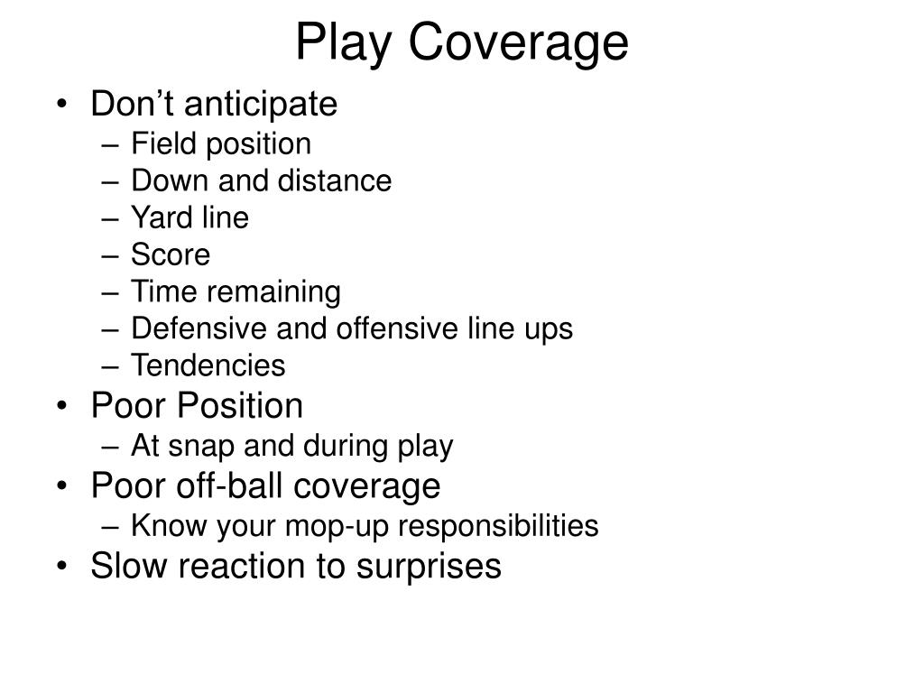 Play Coverage