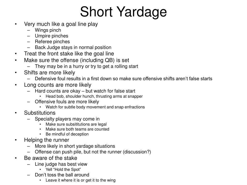Short Yardage