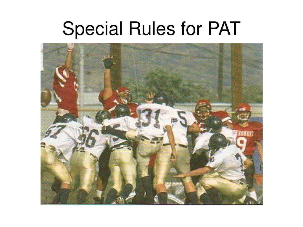 Special Rules for PAT