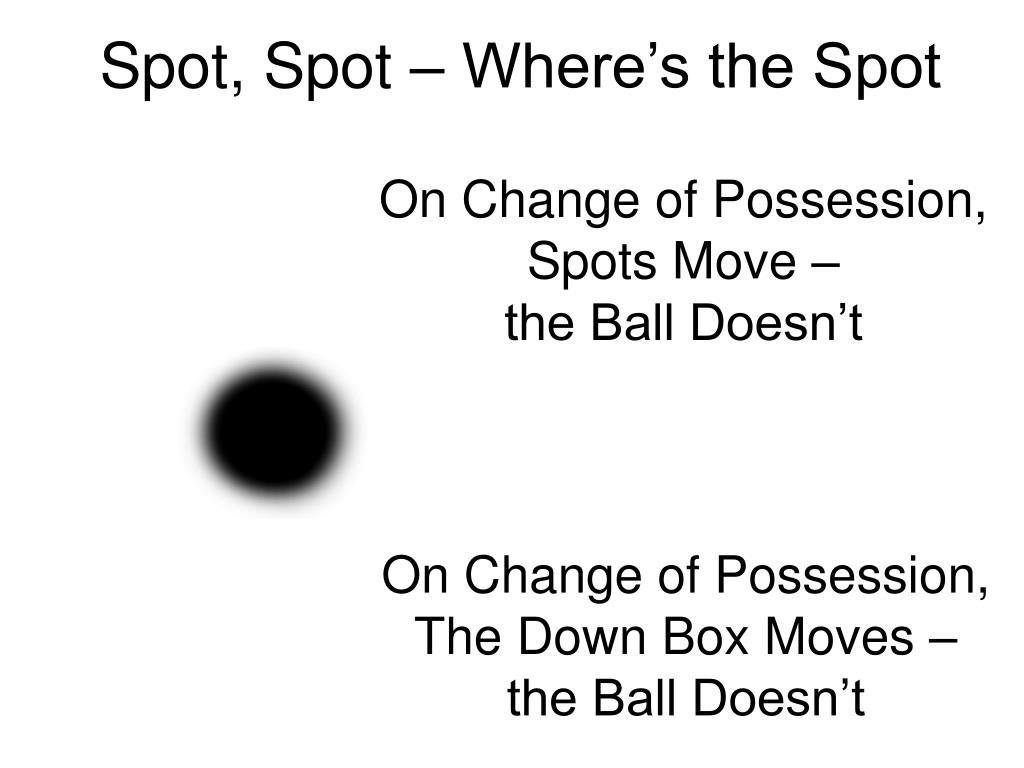 Spot, Spot – Where's the Spot