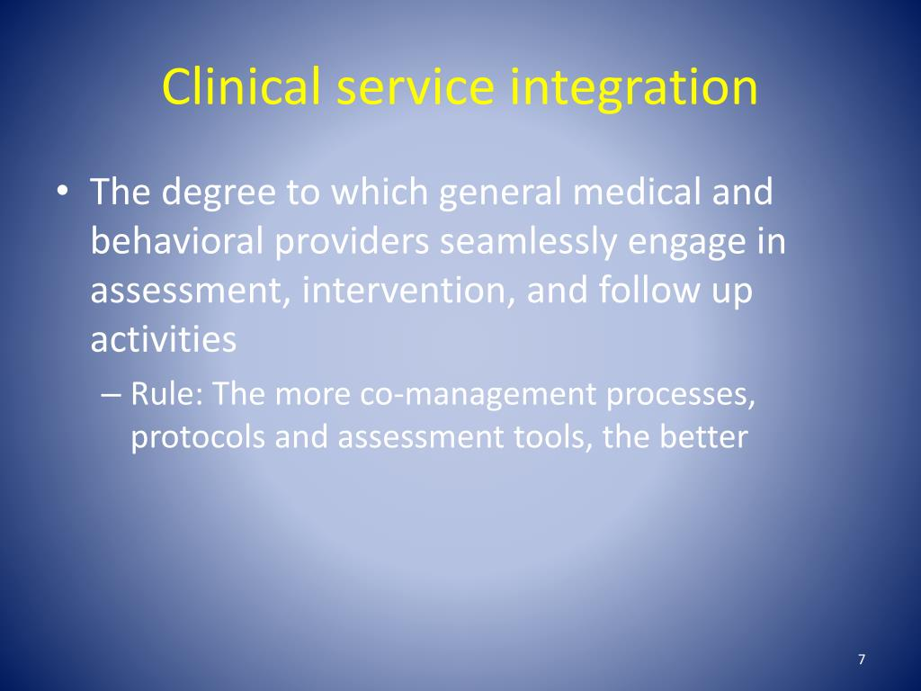 Clinical service integration