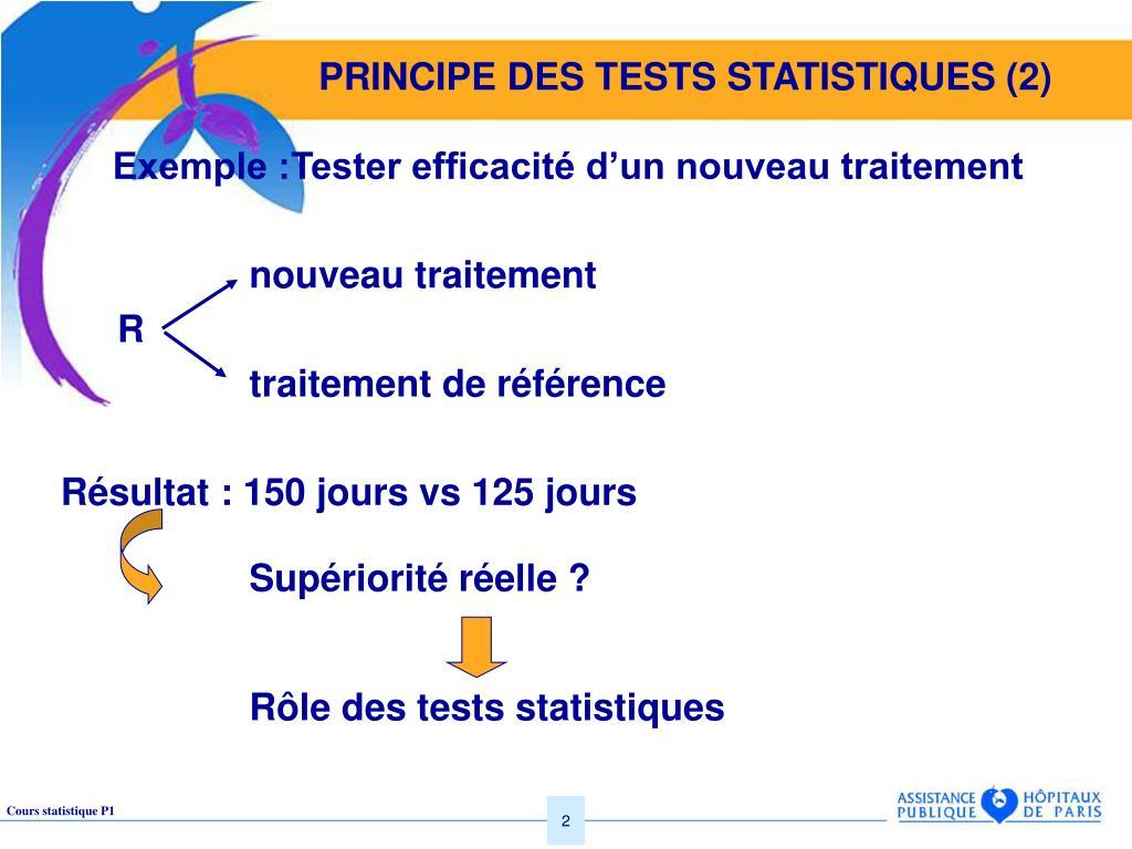 PRINCIPE DES TESTS STATISTIQUES (2)