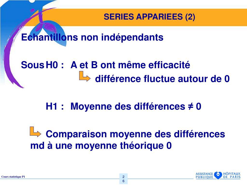 SERIES APPARIEES (2)
