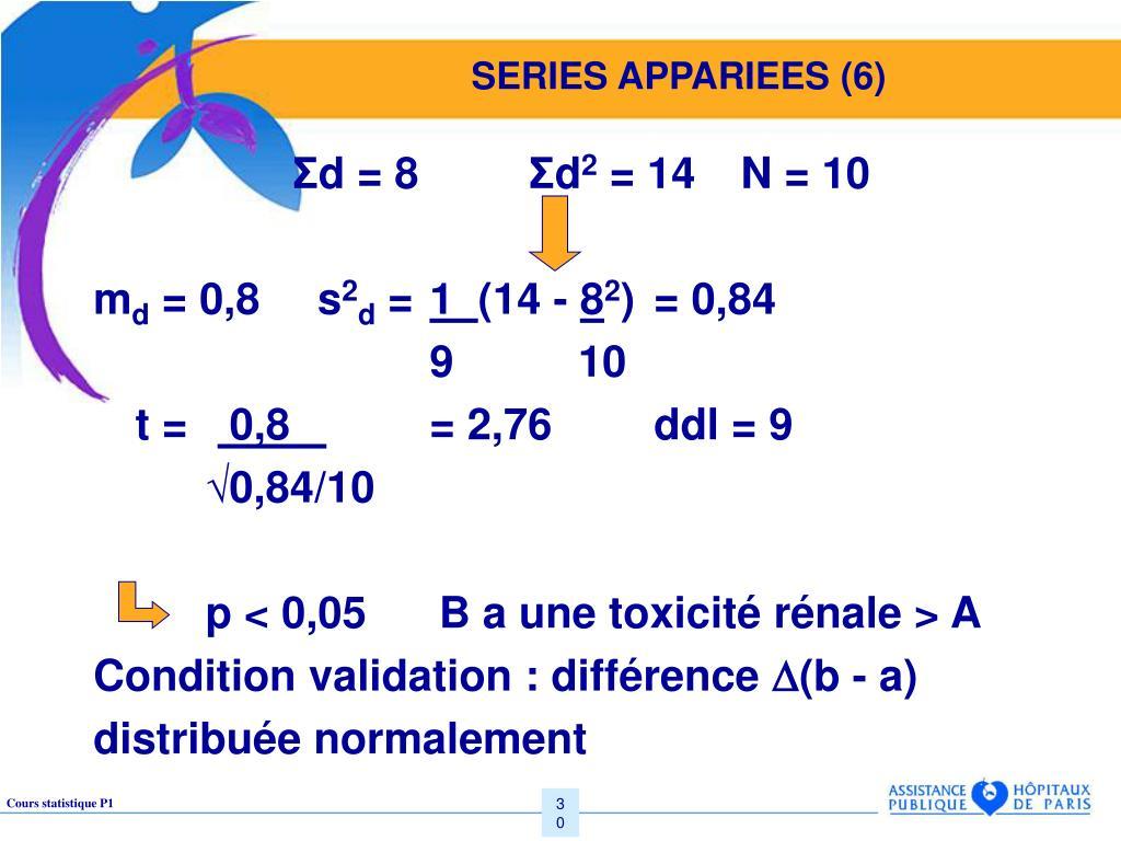 SERIES APPARIEES (6)