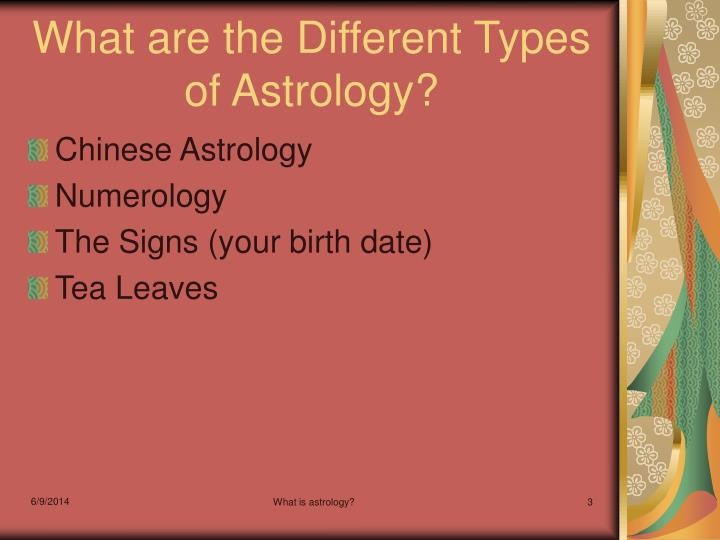 What are the different types of astrology