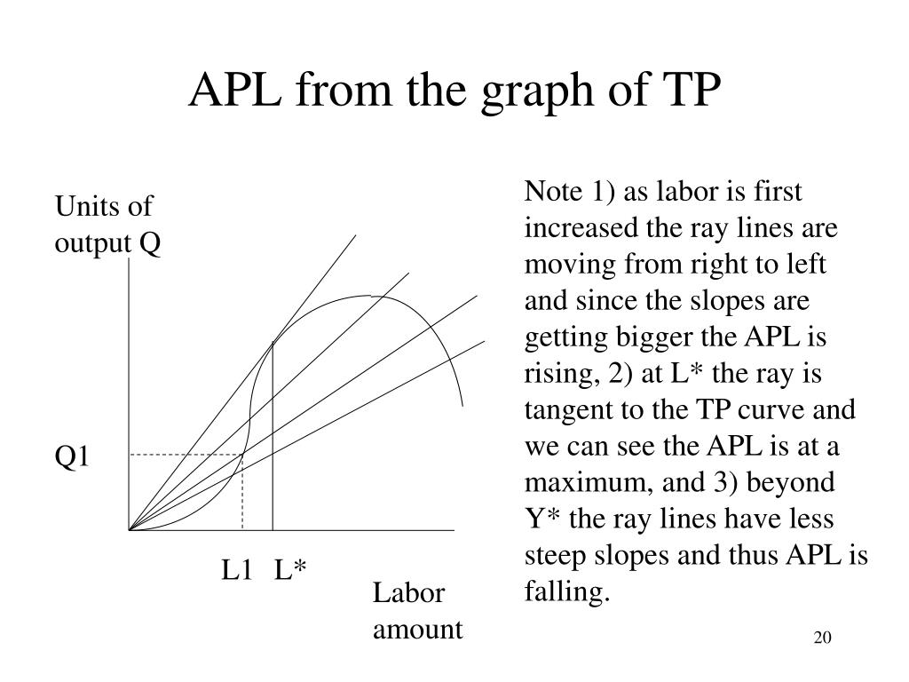 APL from the graph of TP