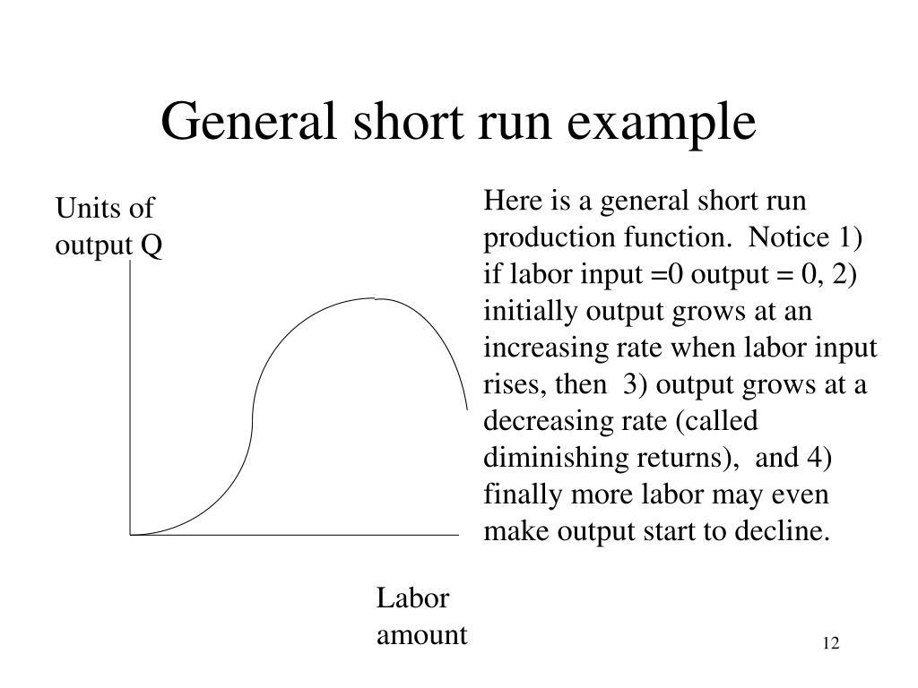General short run example