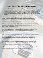 objectives of the internship program