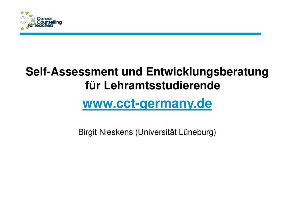 Self-Assessment und Entwicklungsberatung für Lehramtsstudierende