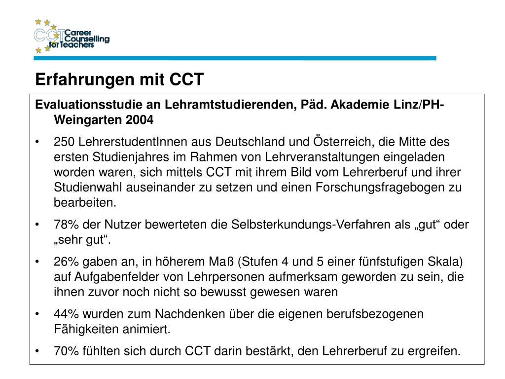 Evaluationsstudie an Lehramtstudierenden, Päd. Akademie Linz/PH-Weingarten 2004