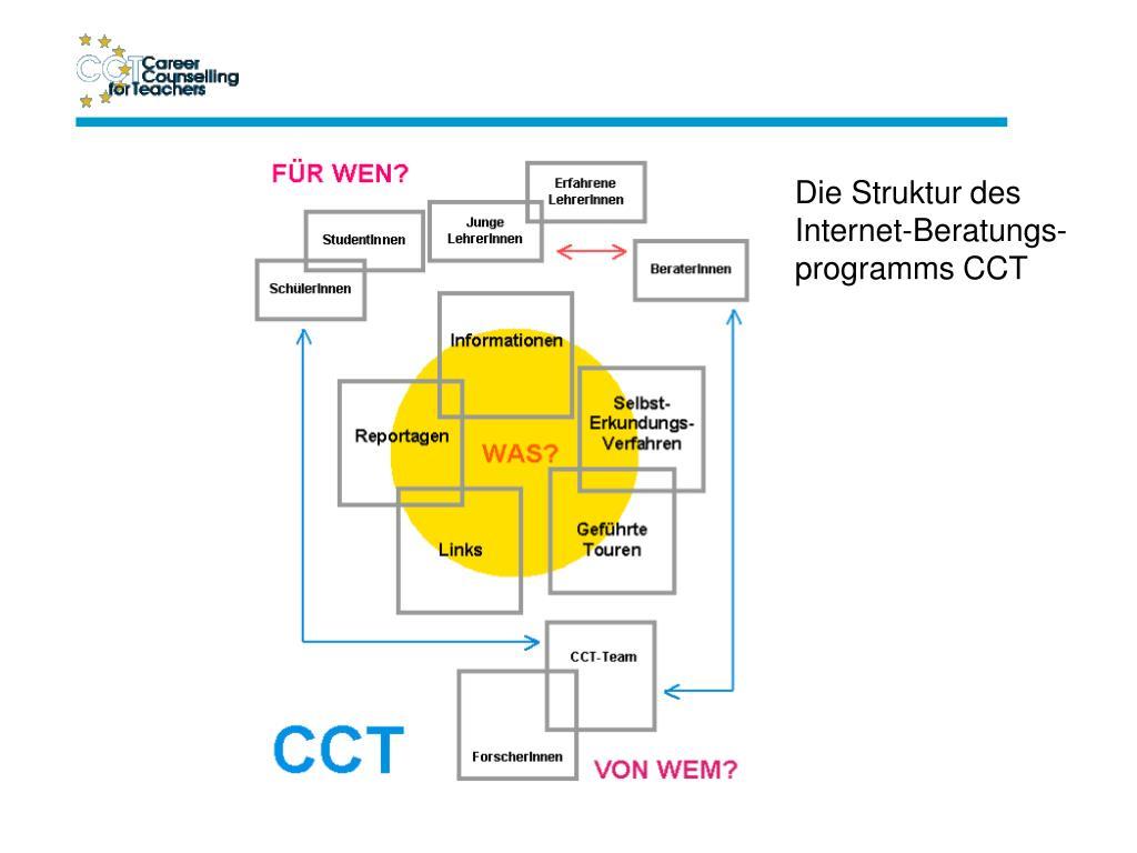 Die Struktur des Internet-Beratungs-programms CCT