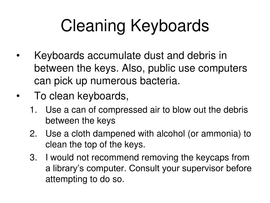 Cleaning Keyboards
