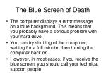 the blue screen of death