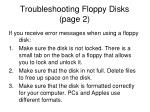 troubleshooting floppy disks page 2