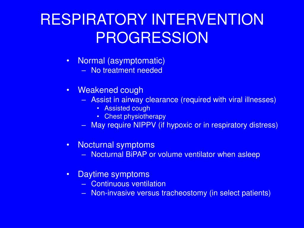 RESPIRATORY INTERVENTION PROGRESSION