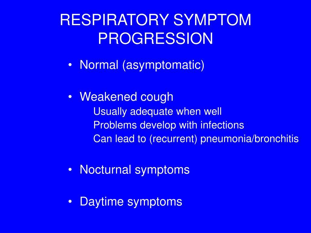 RESPIRATORY SYMPTOM PROGRESSION