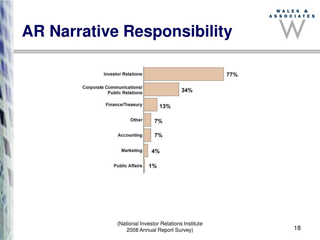 AR Narrative Responsibility