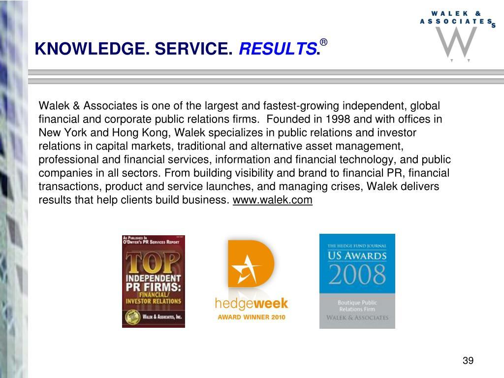 KNOWLEDGE. SERVICE.