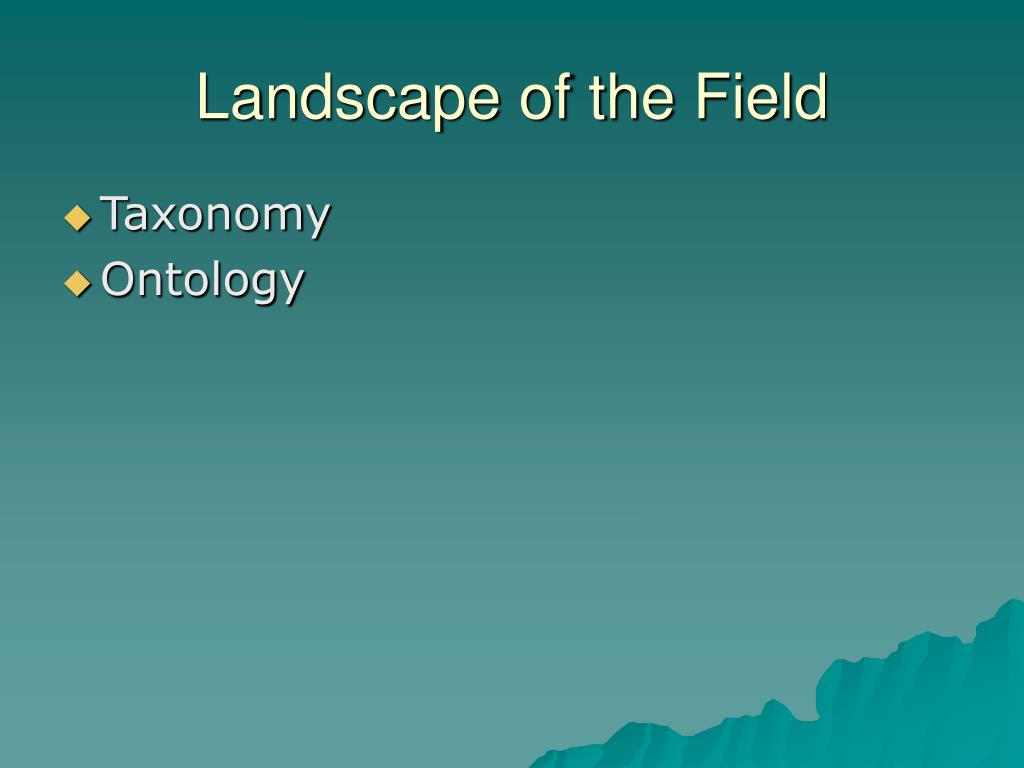 Landscape of the Field