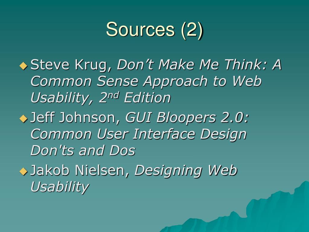 Sources (2)