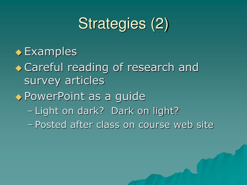 Strategies (2)