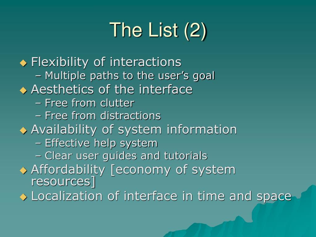 The List (2)