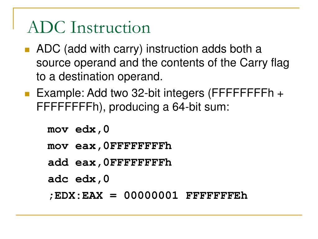 ADC Instruction