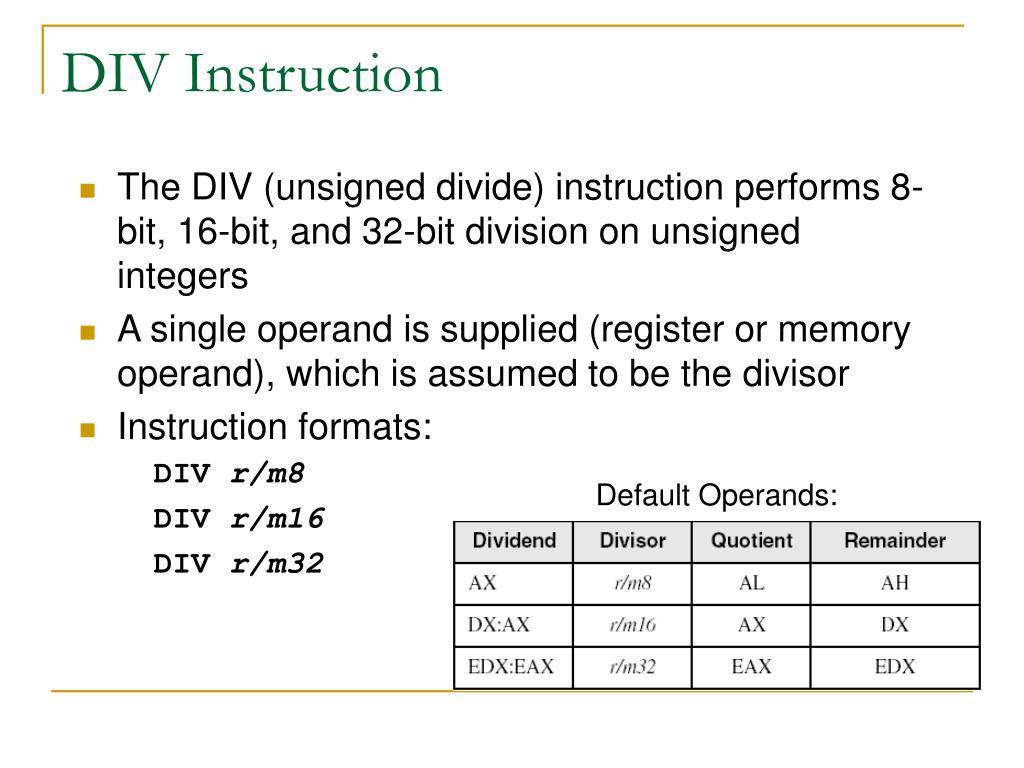 Default Operands: