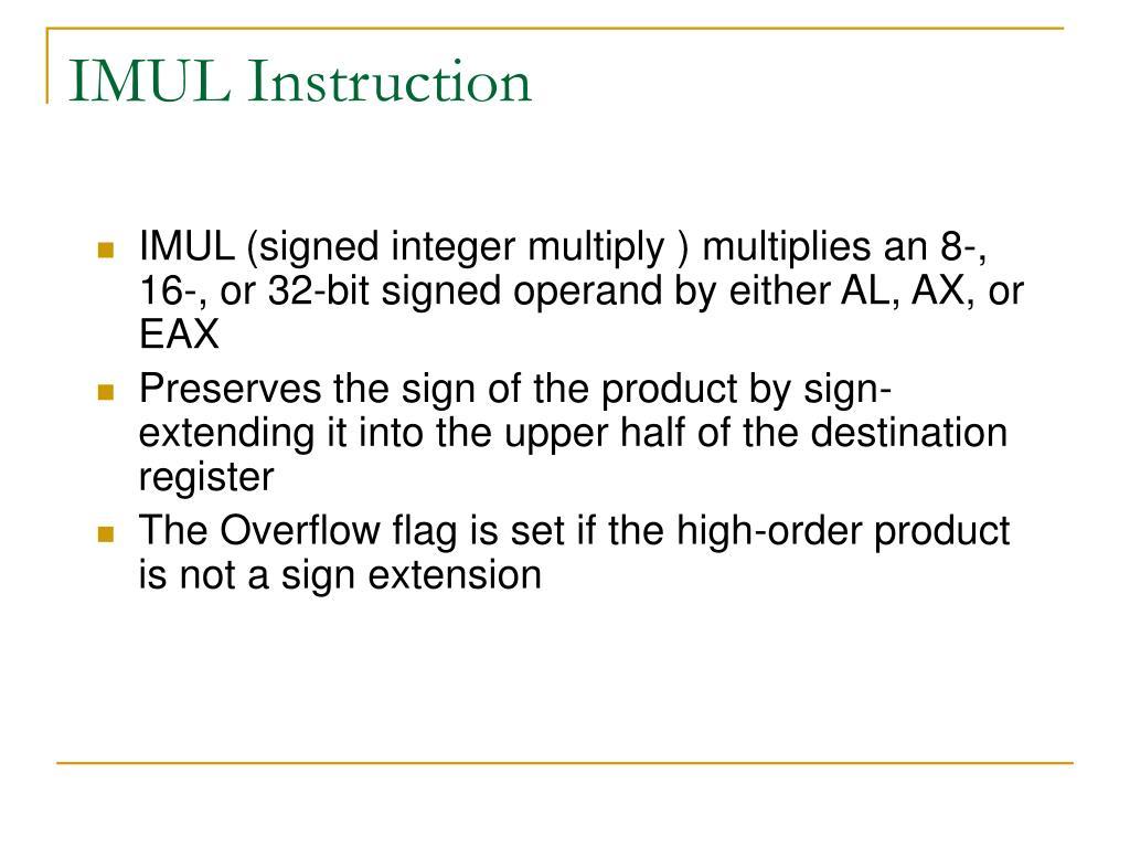 IMUL Instruction