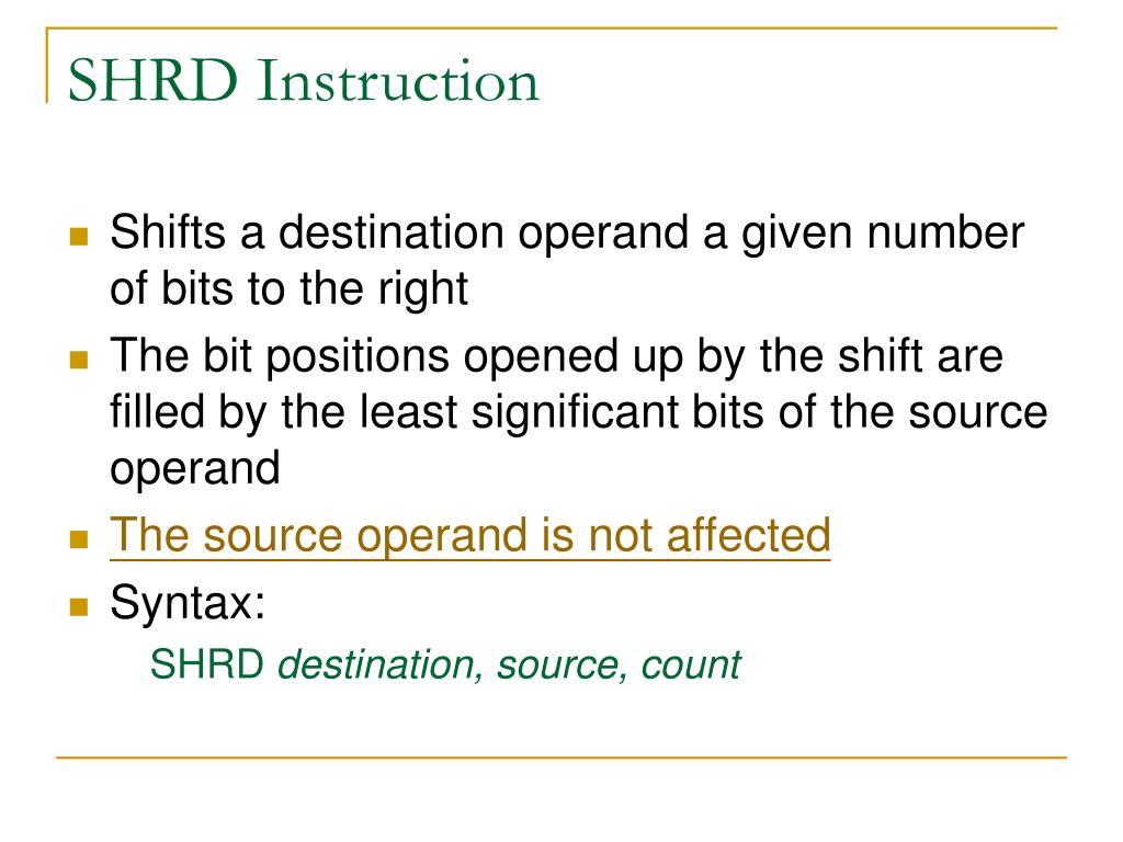 SHRD Instruction