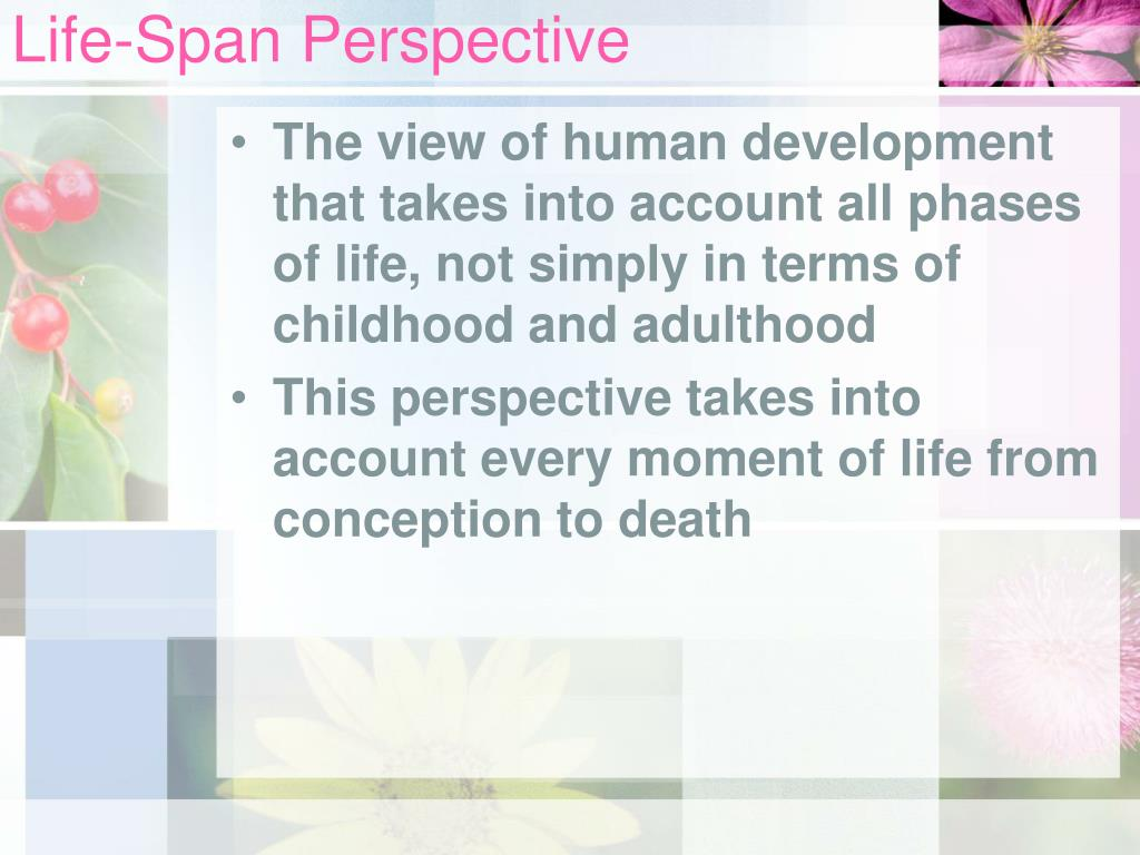 lifespan development perspective