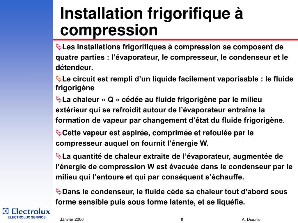 Installation frigorifique à compression