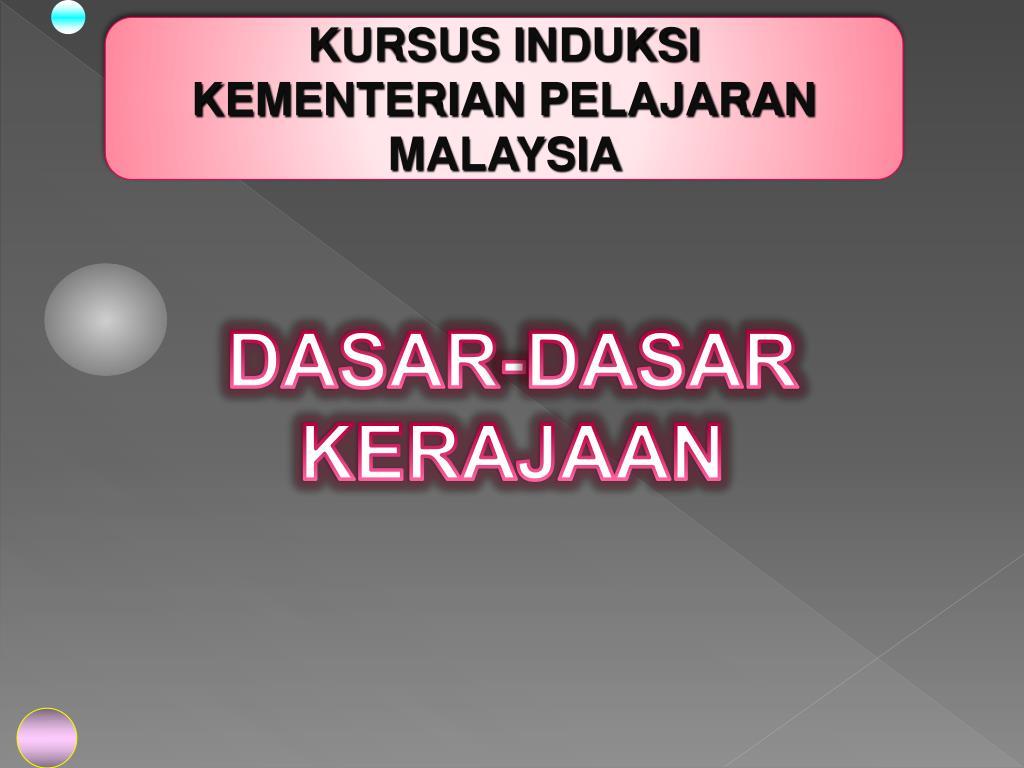 KURSUS INDUKSI                       KEMENTERIAN PELAJARAN MALAYSIA