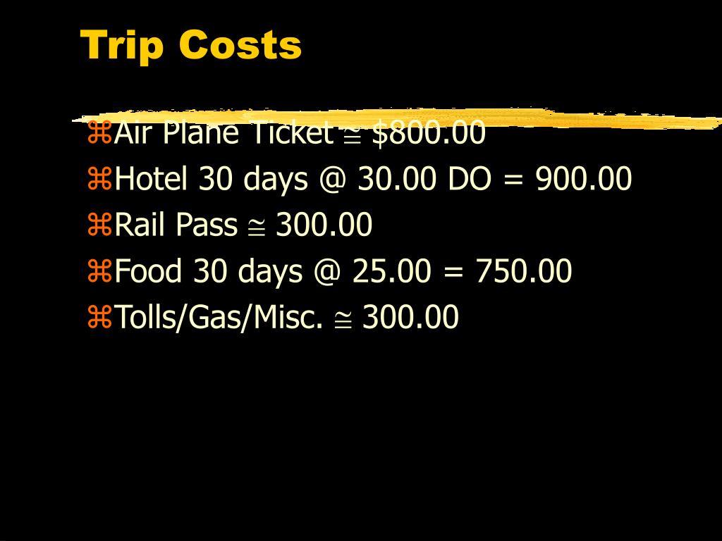 Trip Costs
