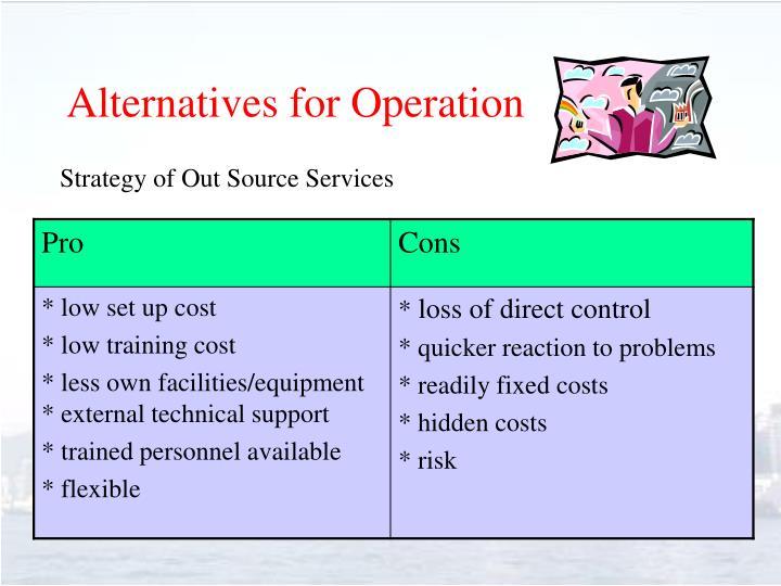 Alternatives for Operation