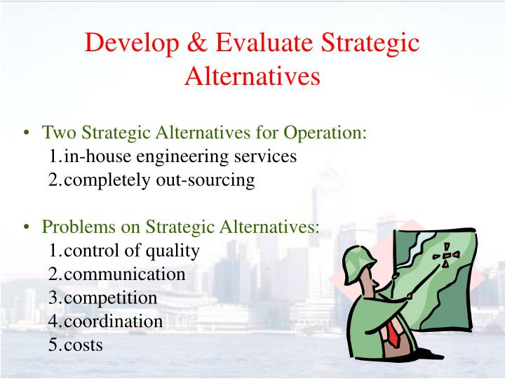 Develop & Evaluate Strategic Alternatives