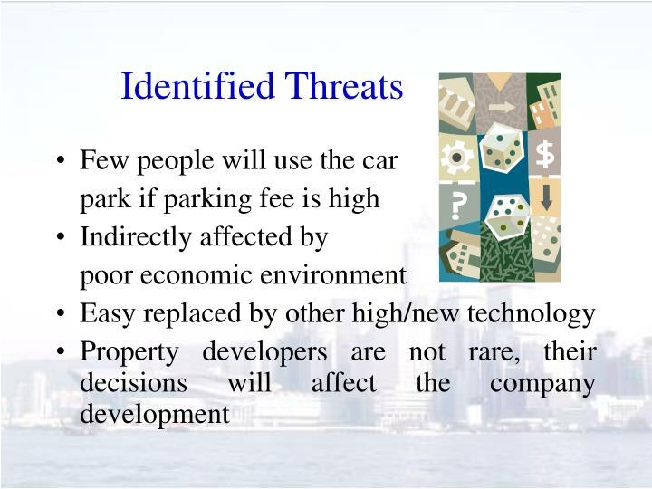 Identified Threats