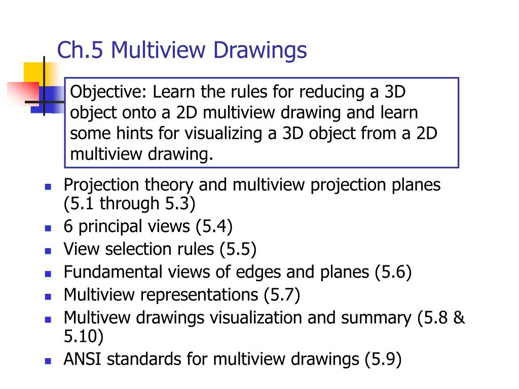 Ch.5 Multiview Drawings
