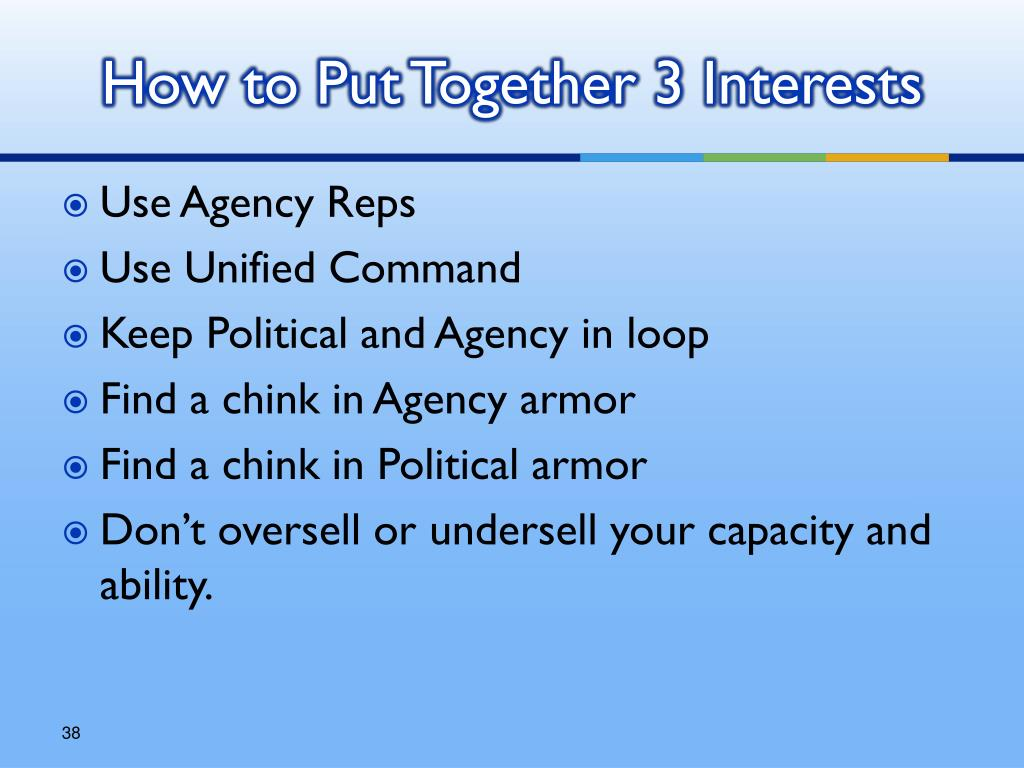 How to Put Together 3 Interests