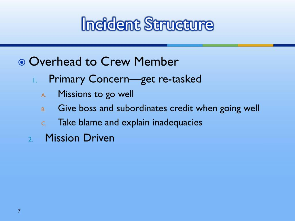 Incident Structure