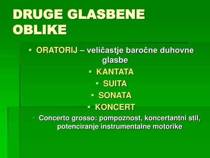 DRUGE GLASBENE OBLIKE
