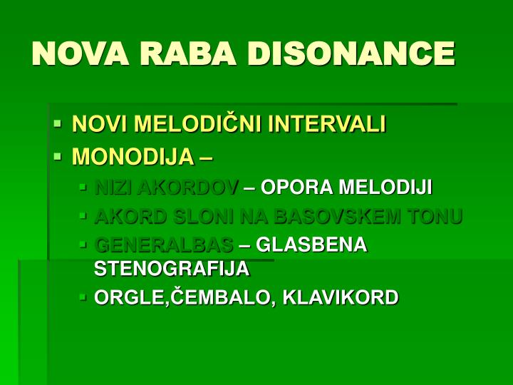 NOVA RABA DISONANCE
