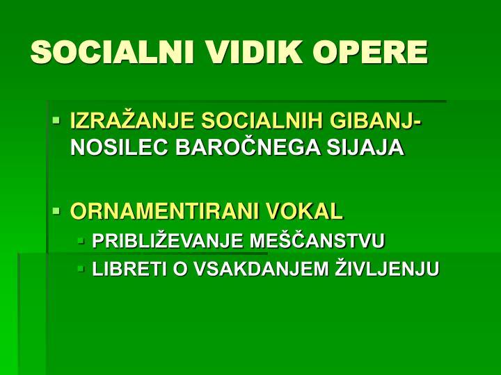 SOCIALNI VIDIK OPERE