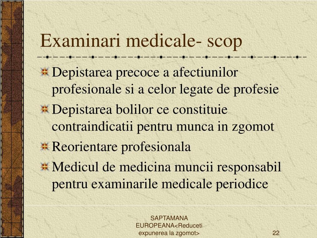 Examinari medicale- scop