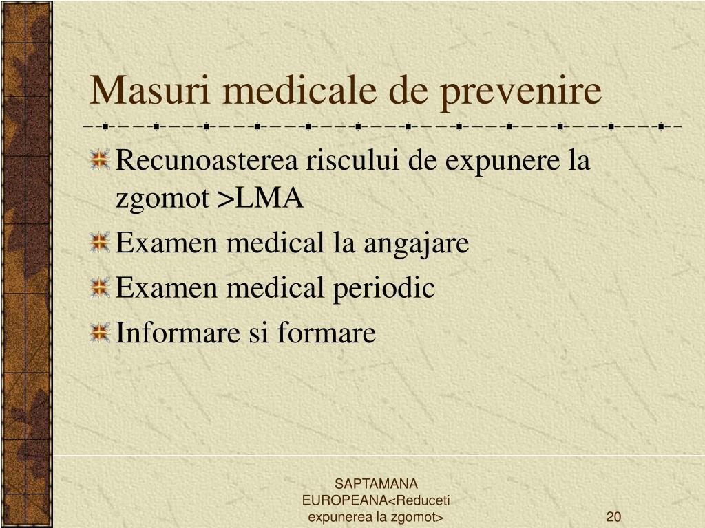 Masuri medicale de prevenire