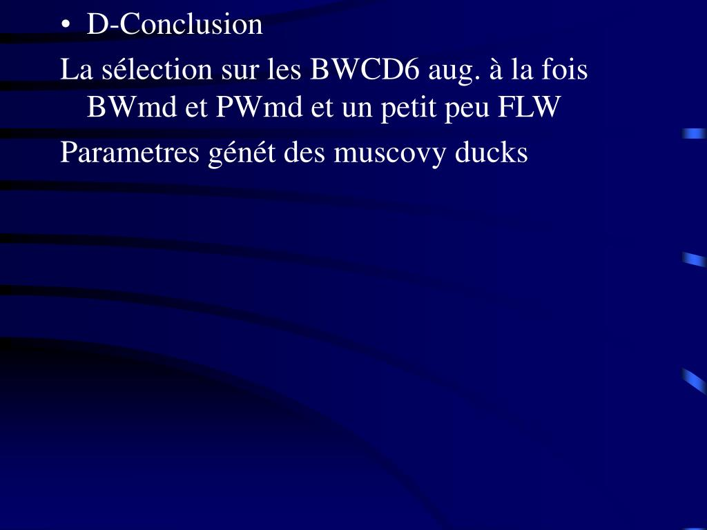 D-Conclusion