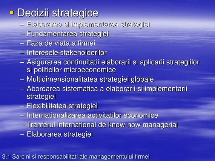 Decizii strategice