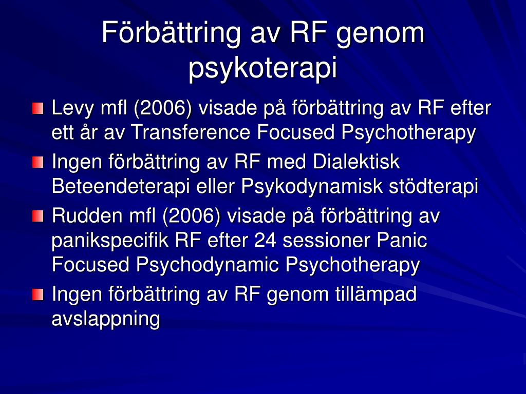 Förbättring av RF genom psykoterapi